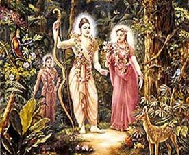 Sita Devi, Sri Rama and Lakshmana with Nepalese prince.